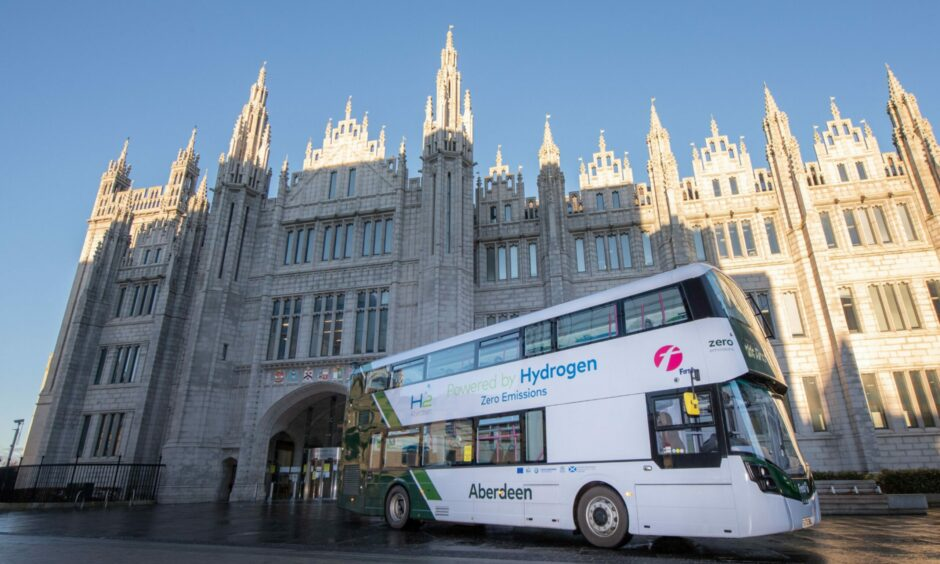Pioneering hydrogen buses are already in use on the streets of Aberdeen.