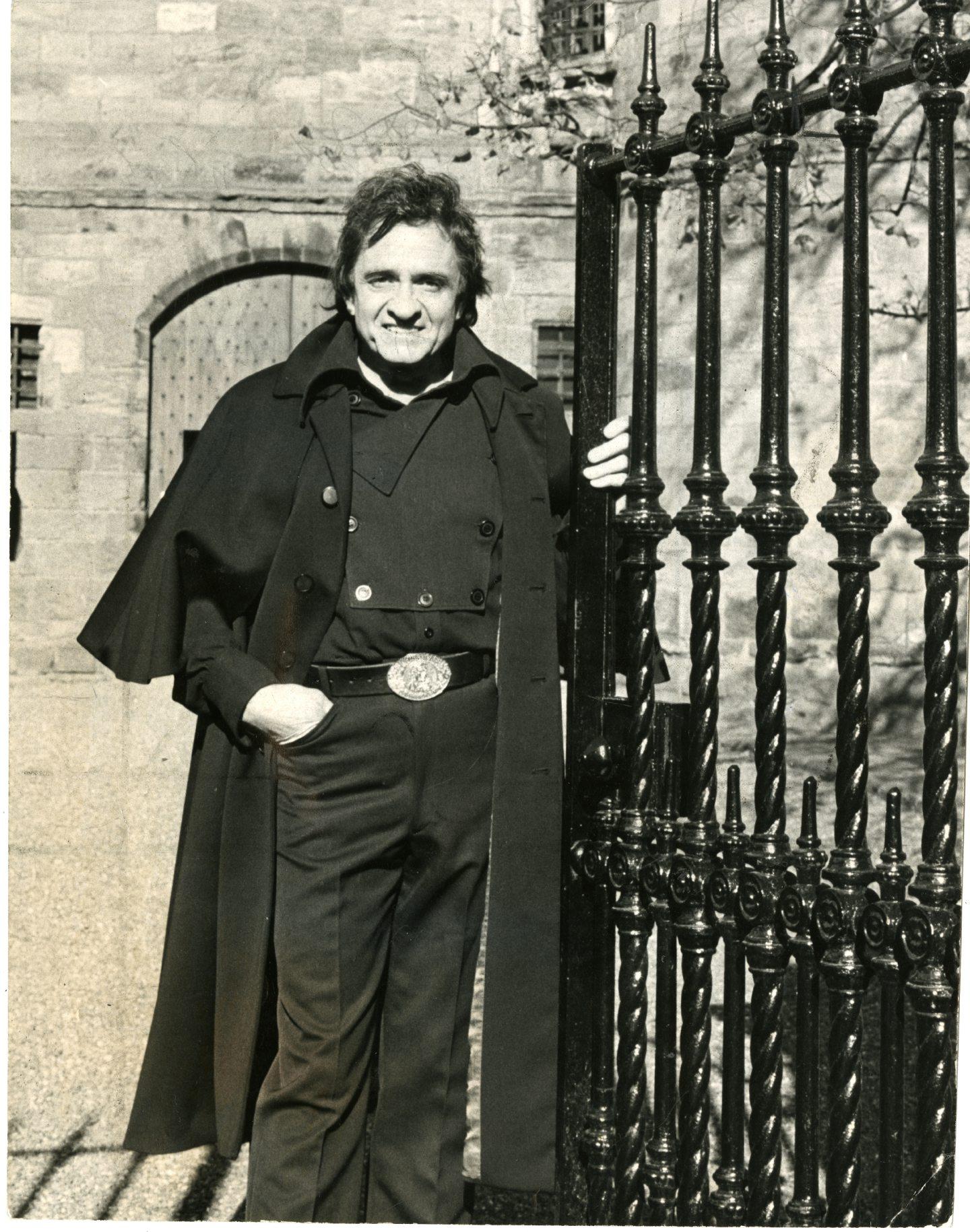 Johnny Cash at Falkland Palace, Fife, in October 1981.