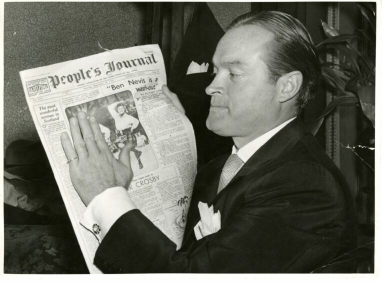 Bob Hope stopped by Green's in between performances at the Caird Hall in 1952.