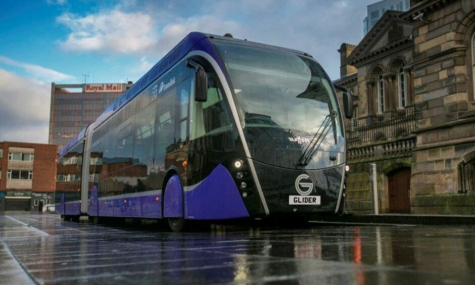 An Aberdeen rapid transit service, similar to the Gliders in Belfast, could be brought to Aberdeen instead of trams.