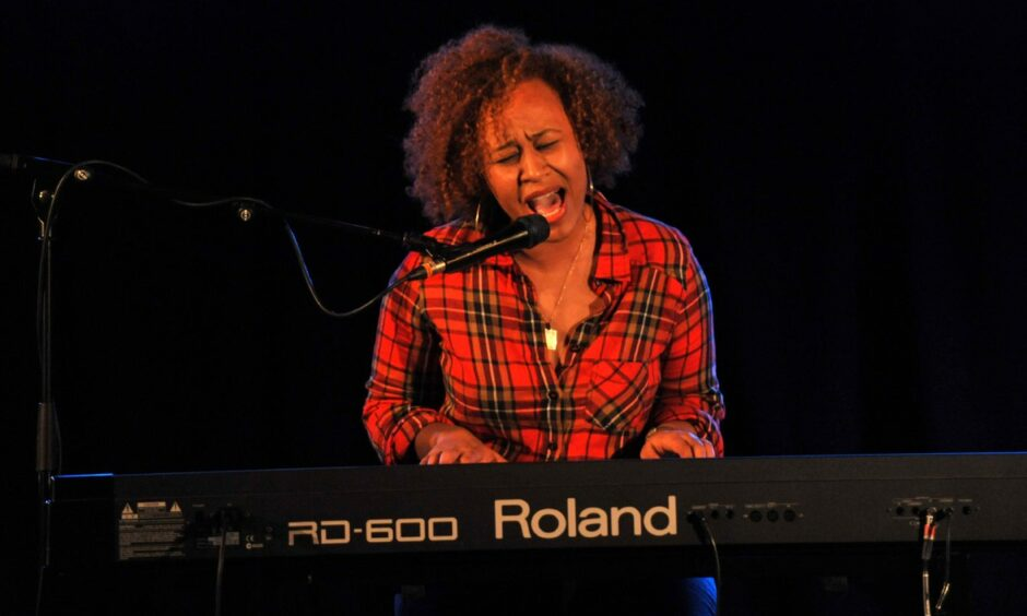 Emeli Sande, who hails from Alford, performing at The Lemon Tree in 2010.