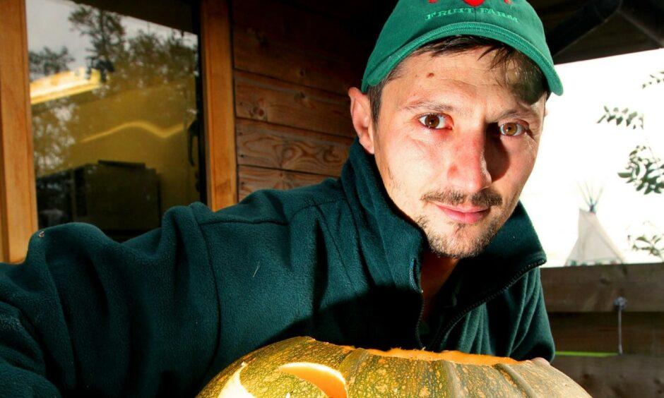 Radu Moldovan, outdoor manager at Cairnie Fruit Farm in Fife.