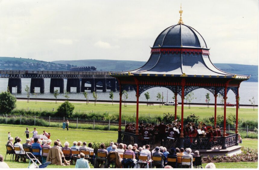 Arbroath Instrumental Band at Magdalen Green, Dundee in 1991.