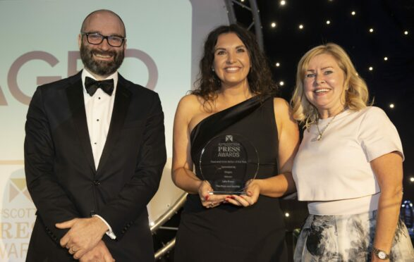 Julia Bryce wins food and drink journalist of the year at the Scottish Press Awards.
