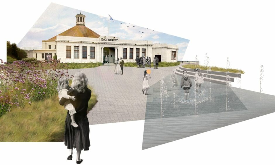 Concept images produced by Aberdeen City Council of the Beach Ballroom, as part of the masterplan refresh.