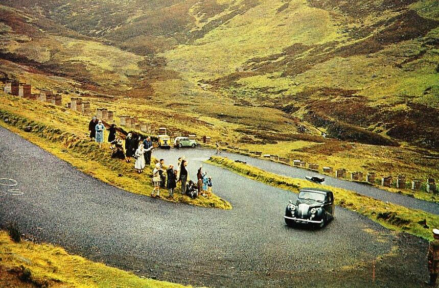 The Queen and Prince Philip tackling the Devil's Elbow, near Glenshee in 1967.