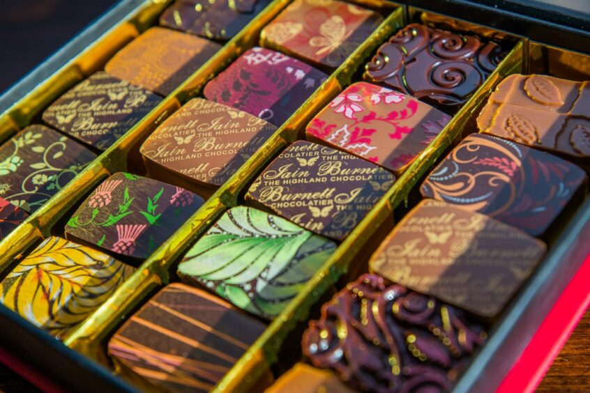 Some of Iain Burnett's chocolates that will be the main focus at the tastings.