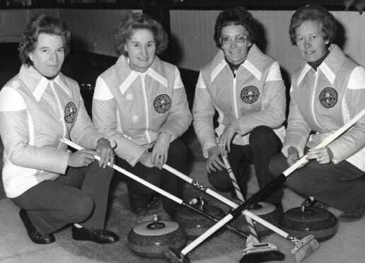 Isobel Ross champion curler and her team