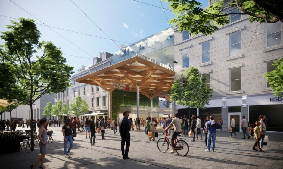 A concept image of the proposed new Aberdeen market, set for the former BHS site.