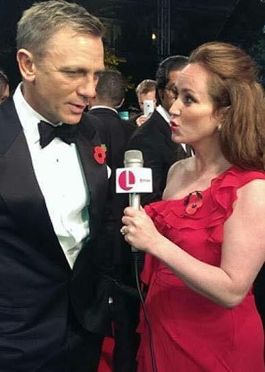Martel Maxwell with Daniel Craig