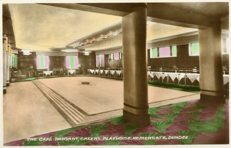 A postcard of the café at Green's Playhouse, which opened in 1936. Supplied by Brian King.