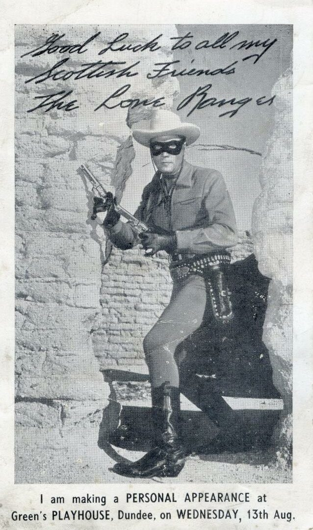 Clayton Moore made a personal appearance at the cinema. Supplied by Brian King.