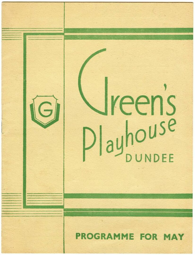 A programme for the iconic Green's Playhouse. Supplied by Brian King.