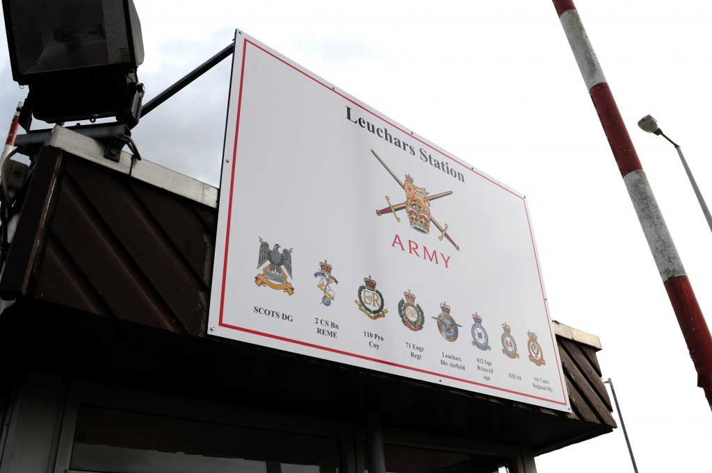 The former RAF Leuchars base was handed over to the army in 2015.