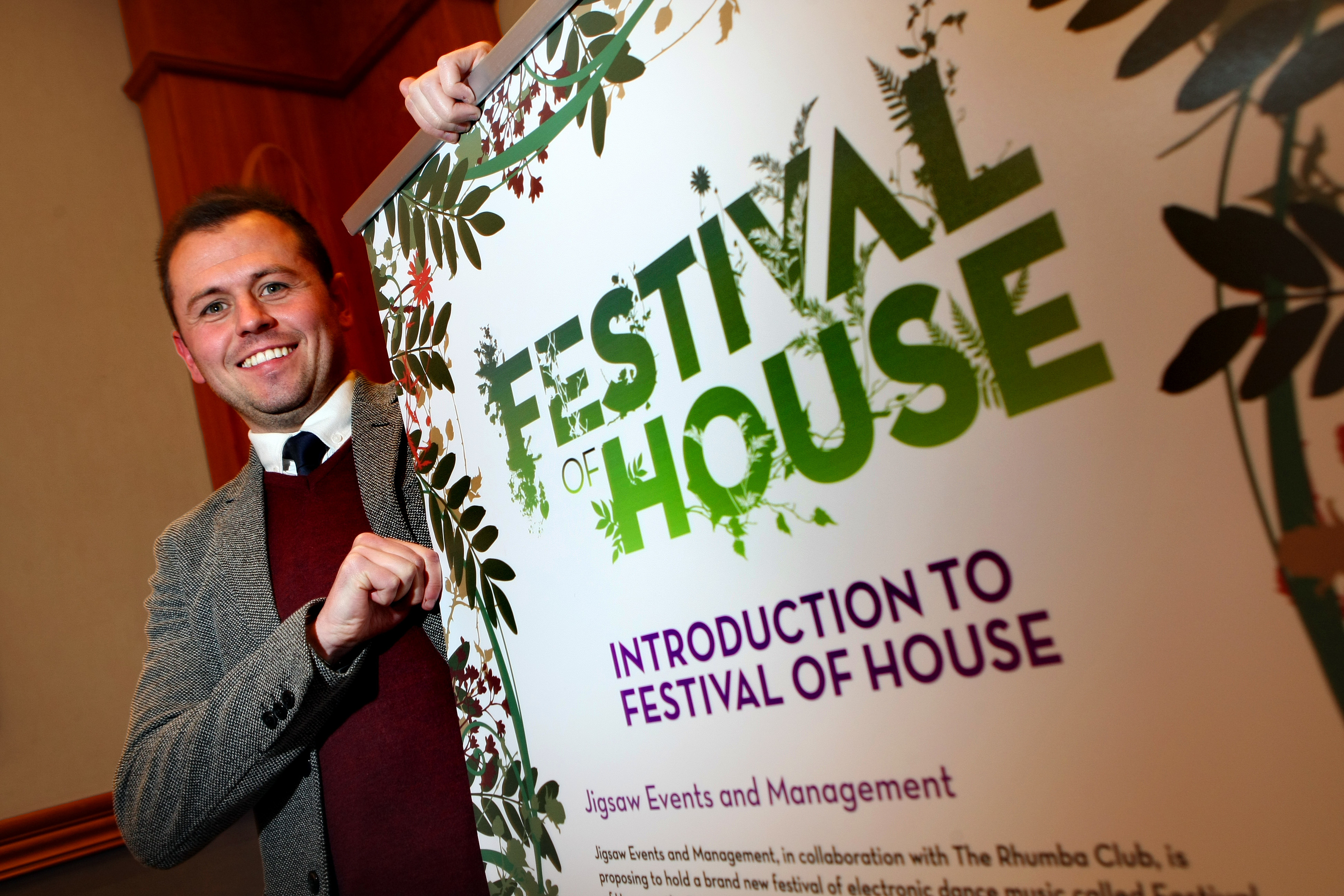Angus Festival of House director Craig Blyth at a public consultation event in February.