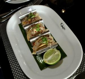 The crab tacos.