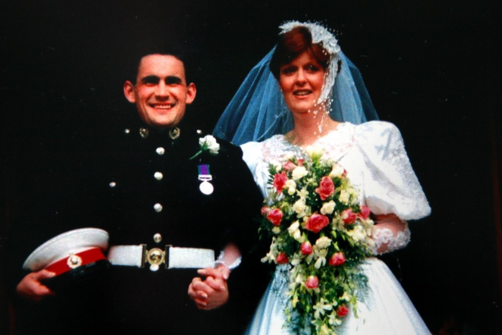 A photo from 1991 when Sheenagh and David Howard were married.