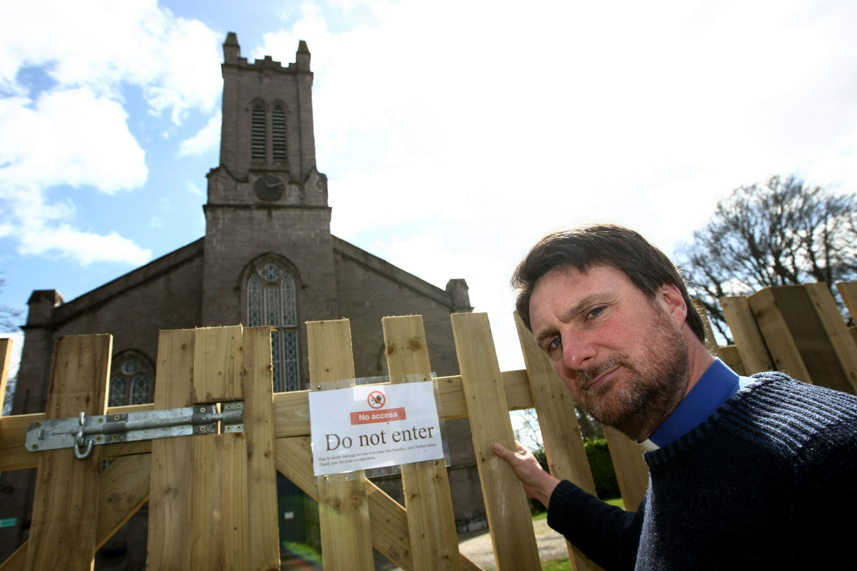 The Reverend Adrian Lough believes Redgorton and Stanley church is unlikely to reopen