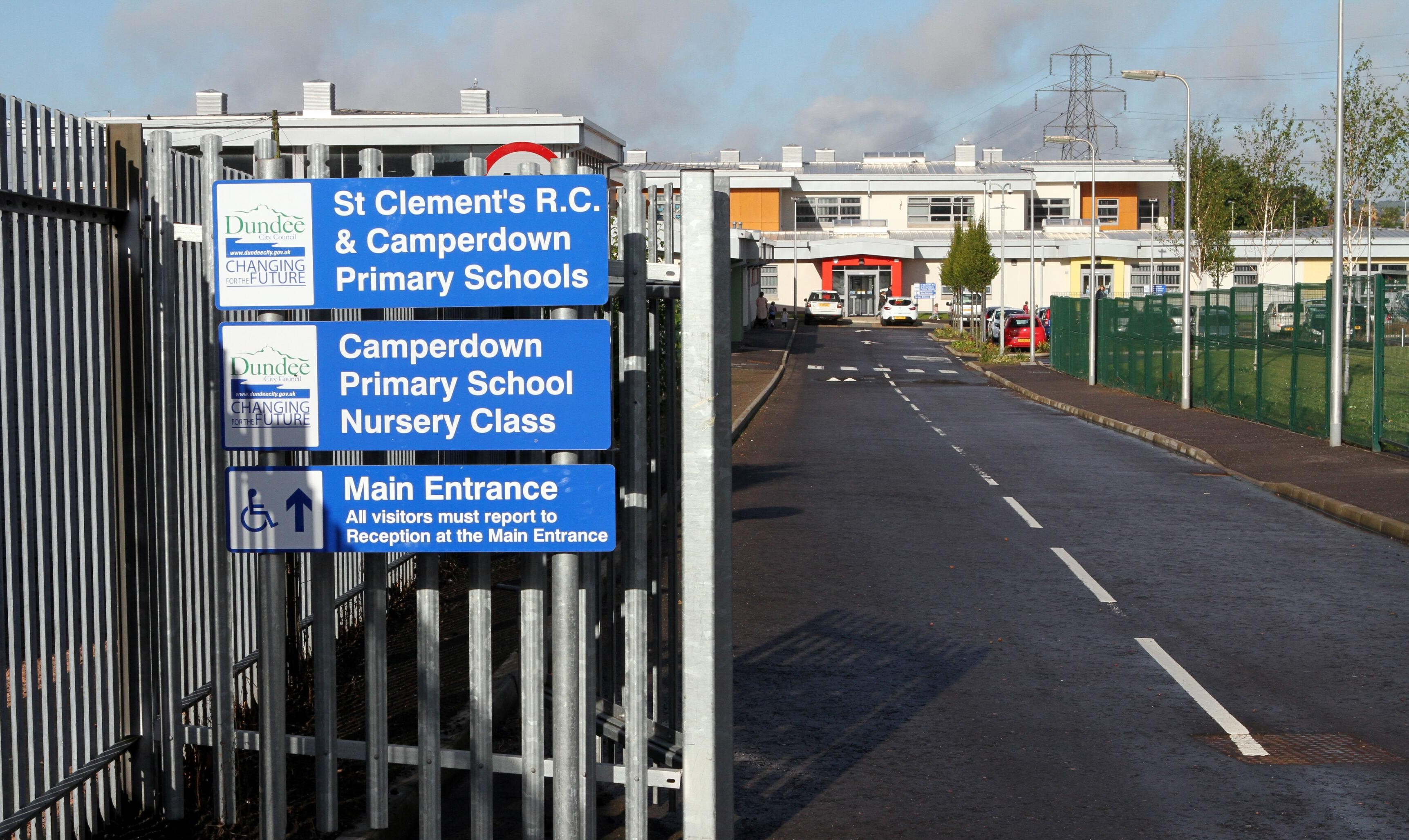 The attack took place outside Camperdown Primary School.