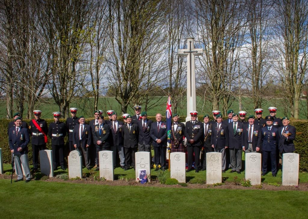 An Anzac memorial ceremony in Arbroath.