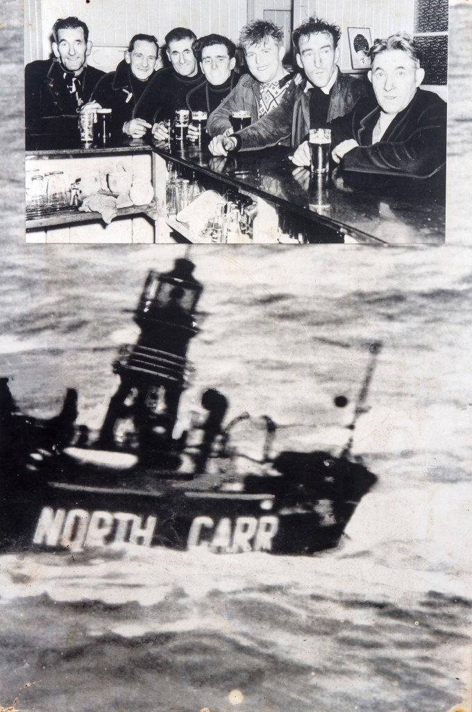 The crew after they had just been rescued and returned to shore.