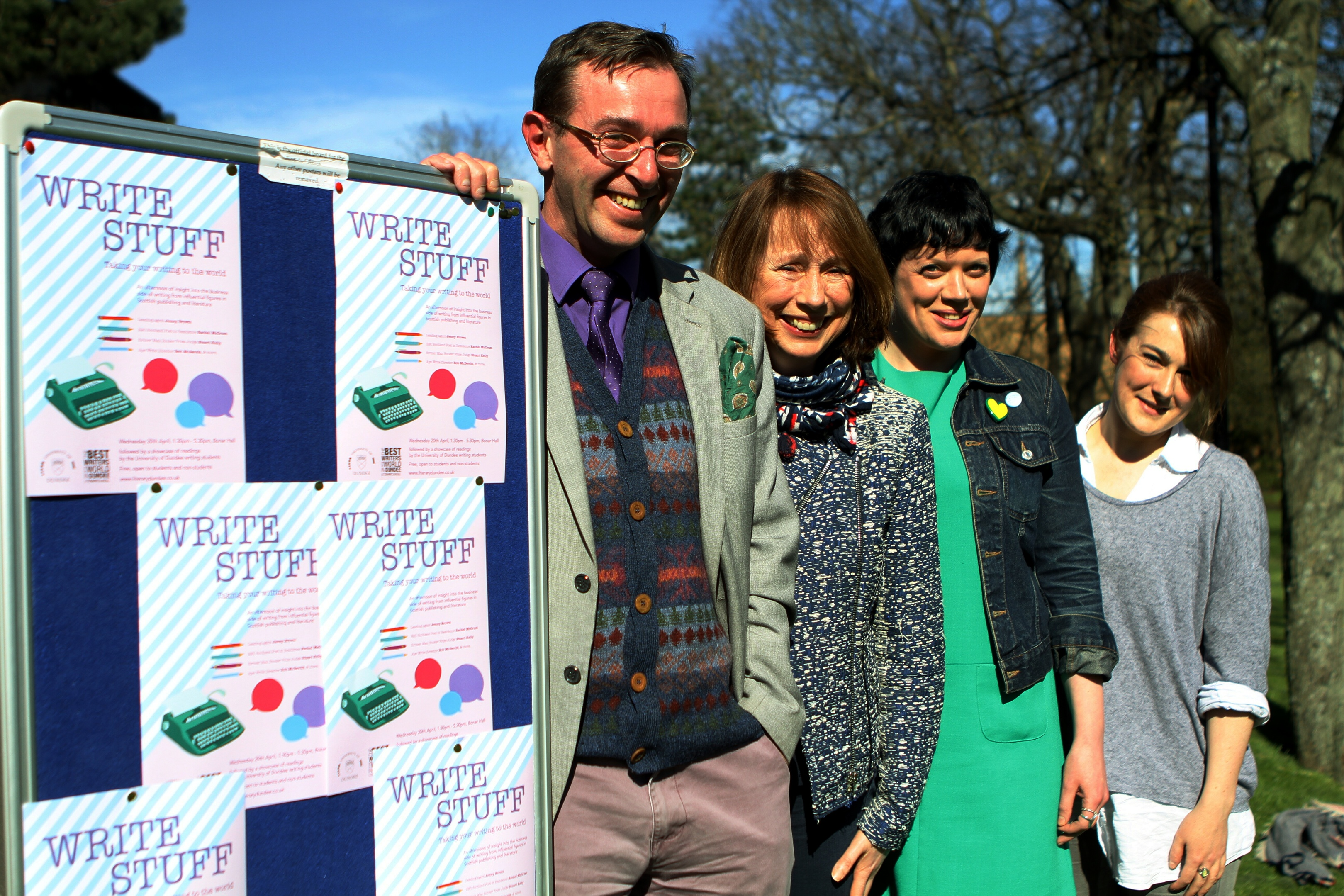 Stuart Kelly, Jenny Brown, Rachel McCrum and Jo Dingley.