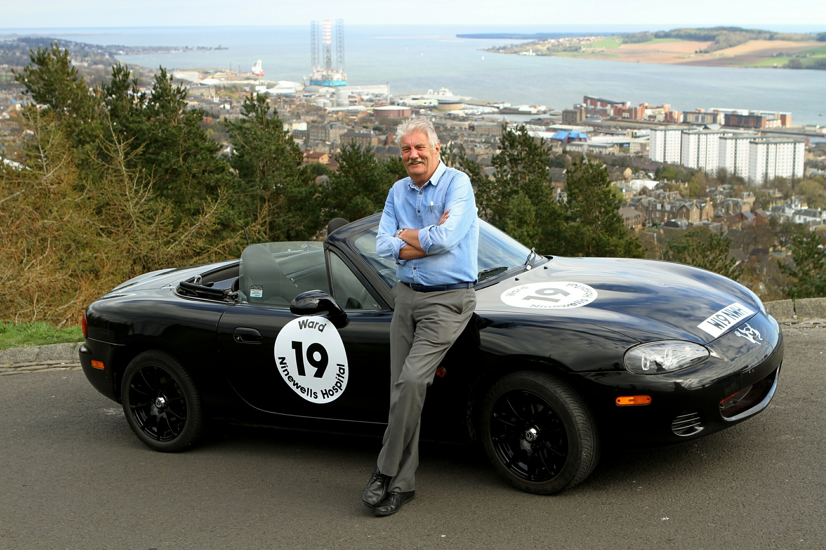Norrie Bland is offering advertising space on his MX-5.