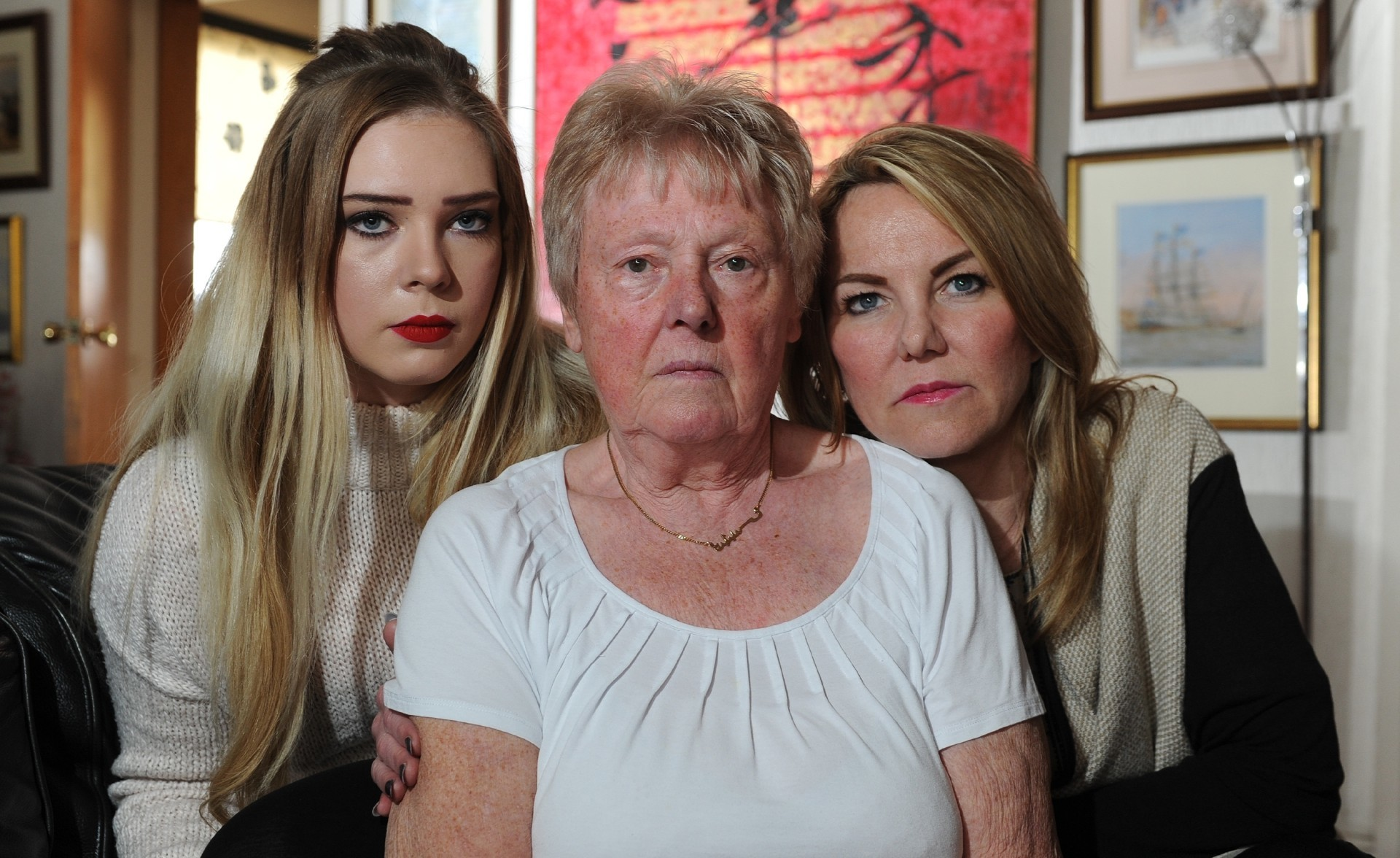 Karen Lamb with daughter Shannon and mum Phyliss