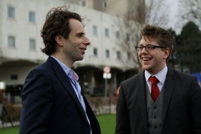 New Dundee University rector Mark Beaumont with DUSA President Tim Hustler