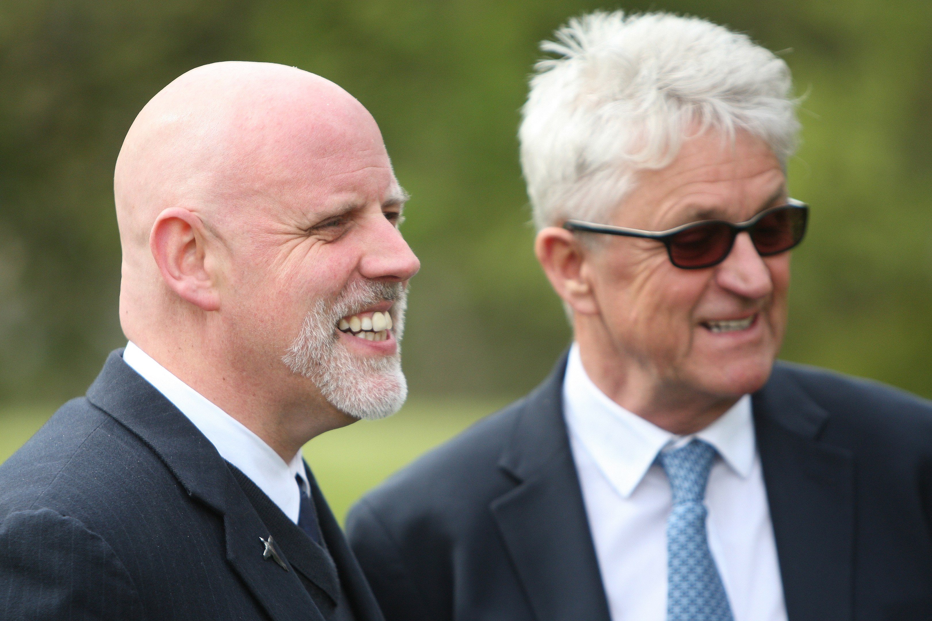 Geoff Ellis and Melvin Benn after the licence was granted.