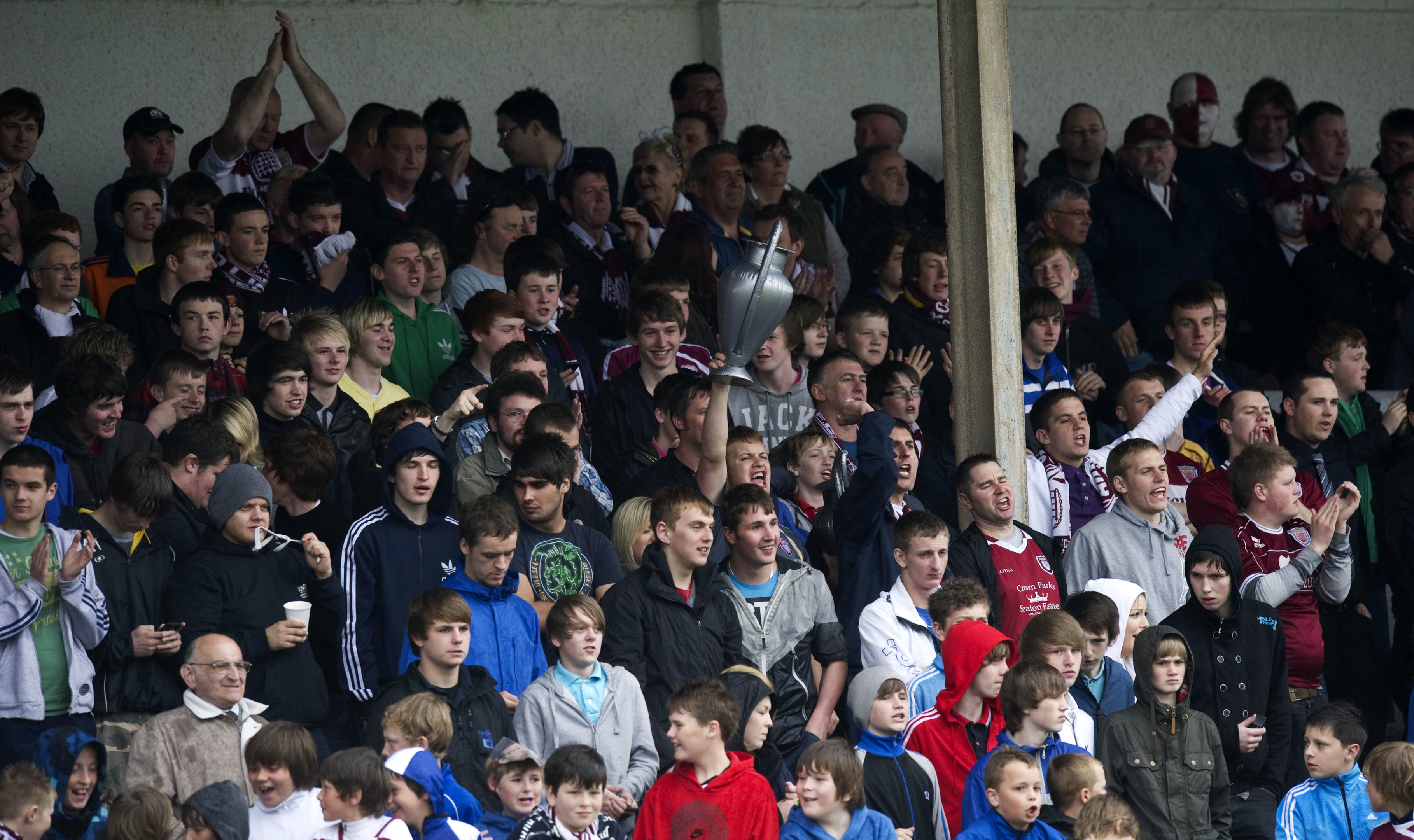 Arbroath fans at a derby against Montrose.