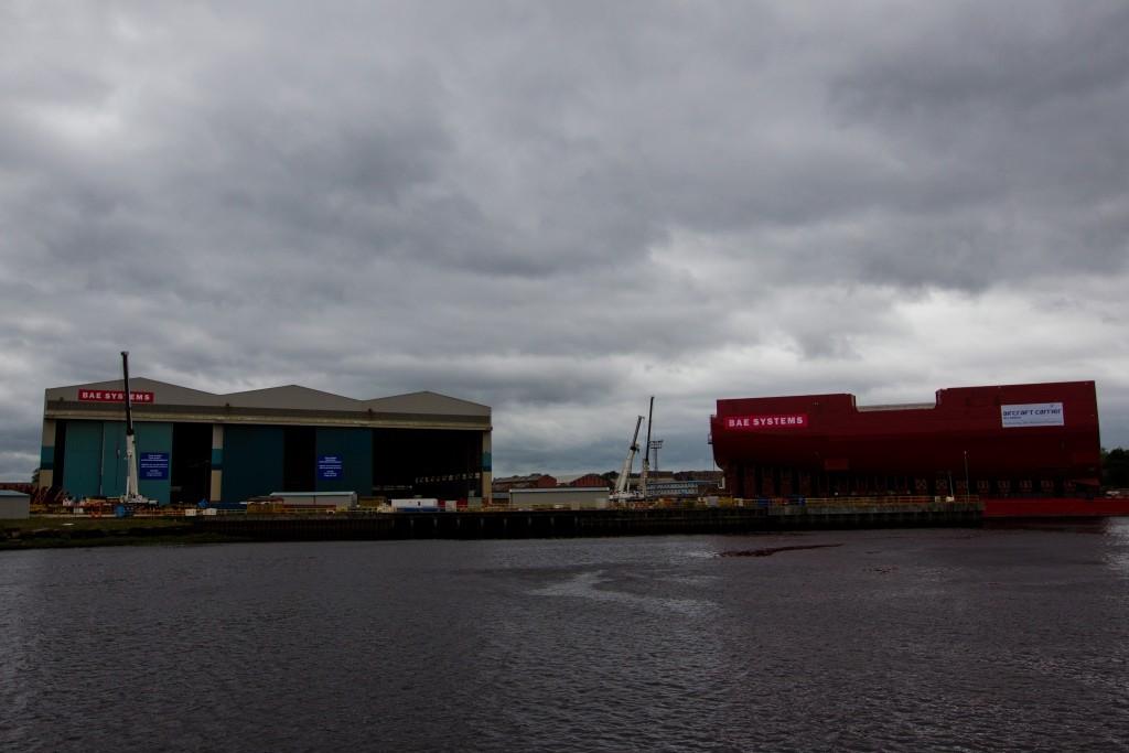 The BAE Systems shipyeard in Govan, Glasgow.