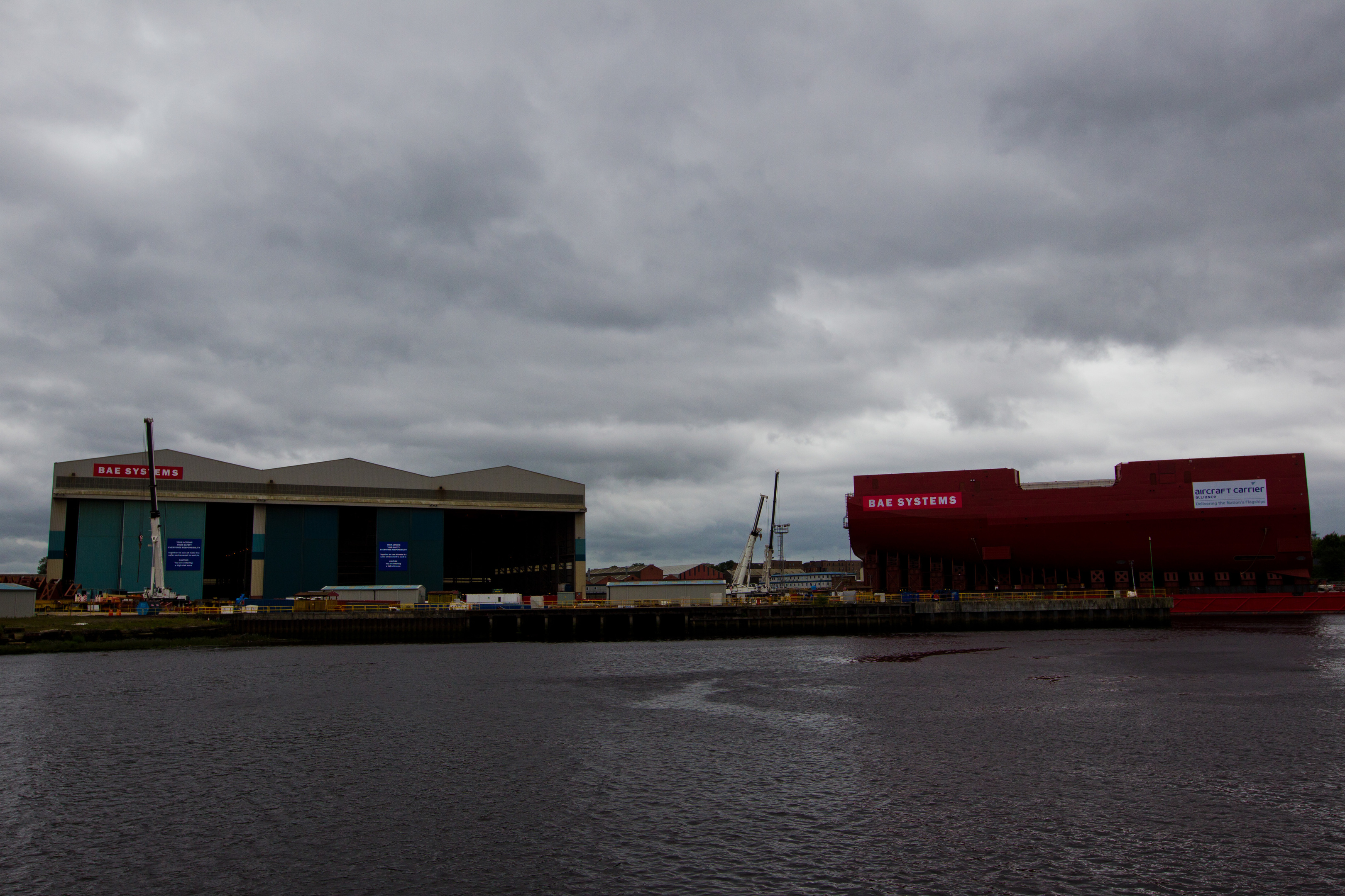The BAE Systems shipyeard in Govan, Glasgow.