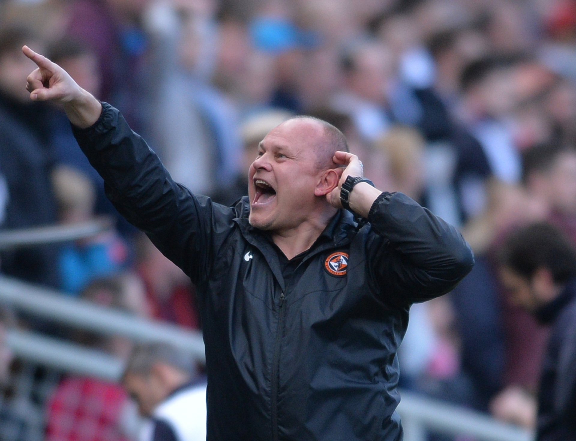 Mixu Paatelainen after Dundee United equalised against Dundee in the derby.