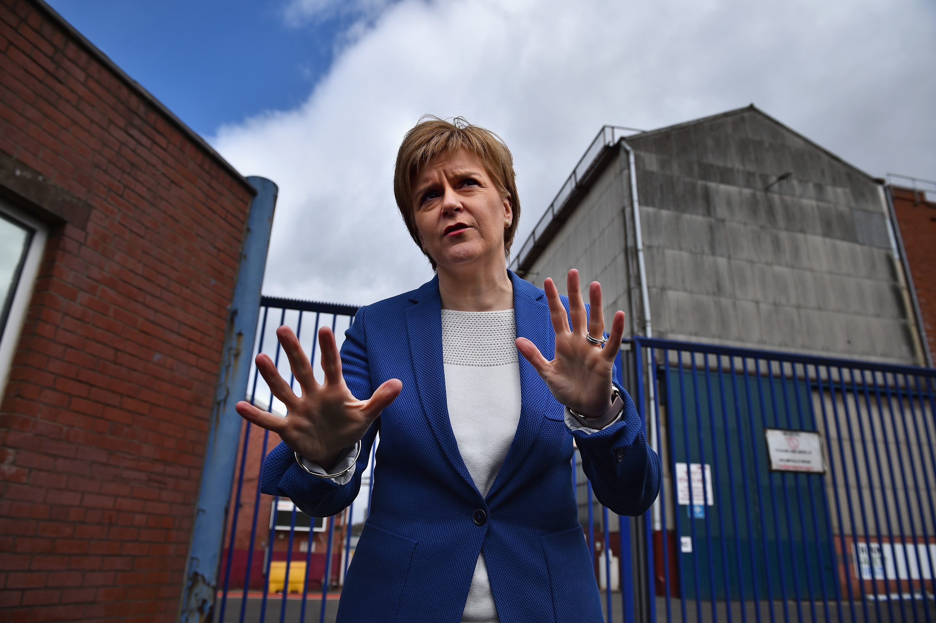Nicola Sturgeon at BAE Systems in Govan.