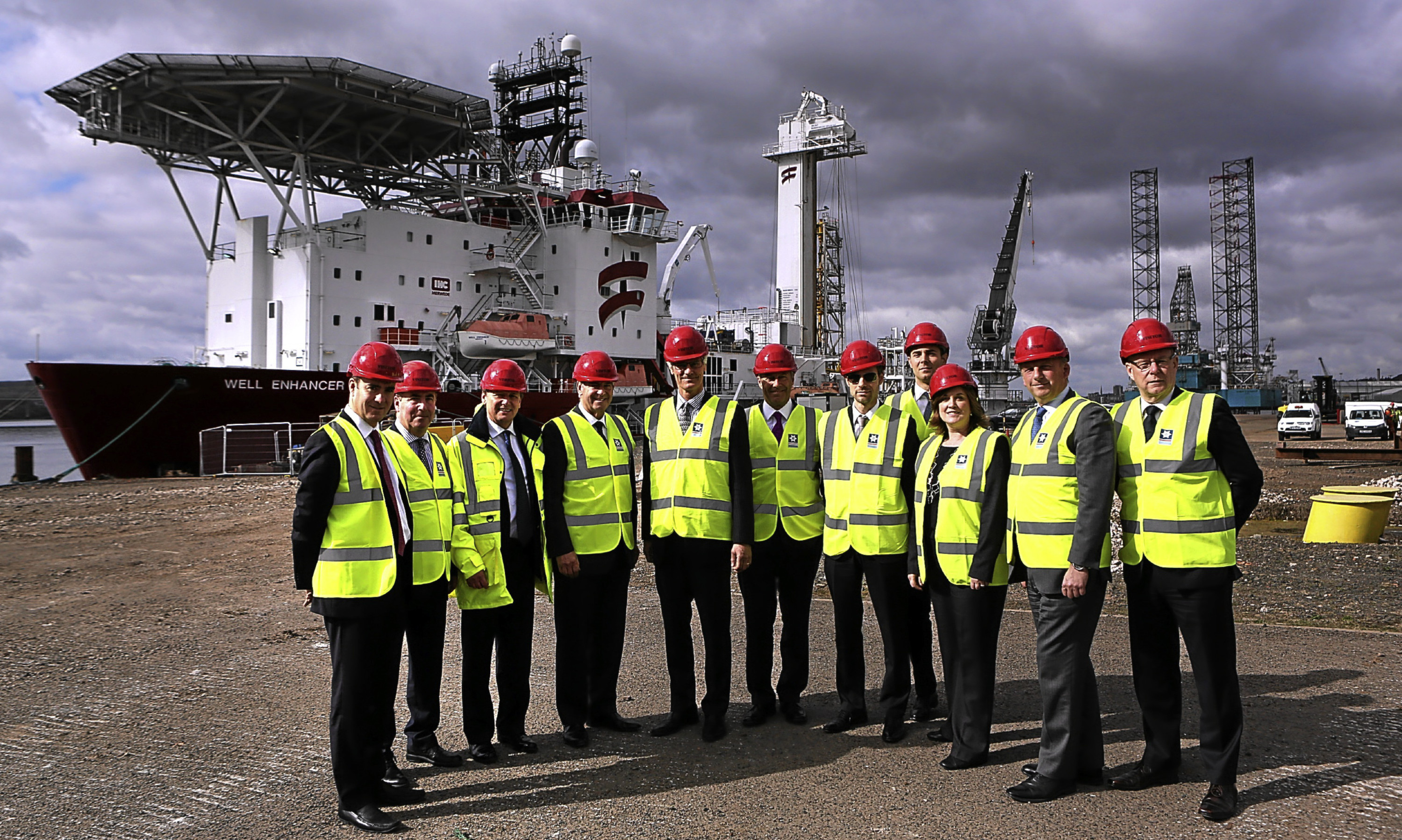 The board of Forth Ports visited the proposed new £10million quayside development at the Port of Dundee.