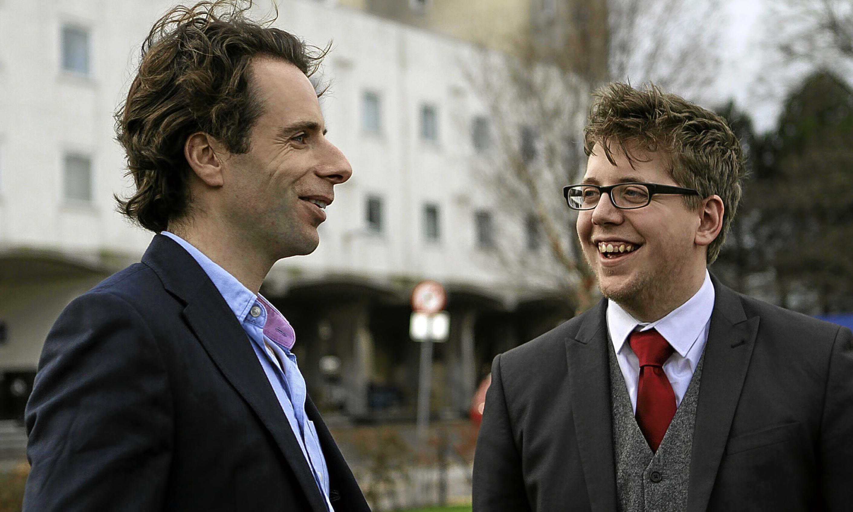 Mark Beaumont with DUSA President Tim Hustler