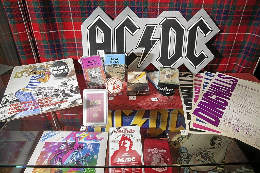 AC/DC's Bon Scott exhibition at the Gateway to the Glens Museum in Kirriemuir. Picture: Paul Reid