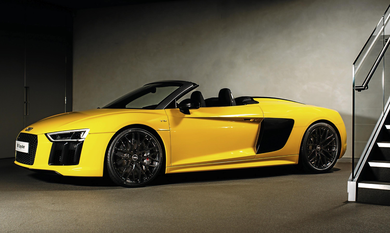The Audi R8 Spyder.