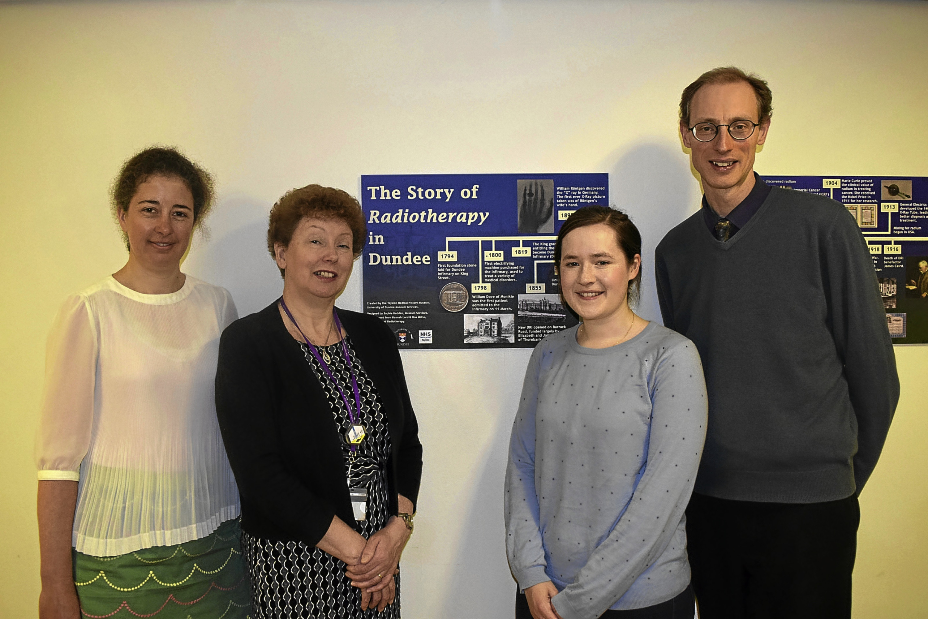 From left: Dr Hannah Lord, Una Milne, Matthew Jarron, and Sophie Hadden.