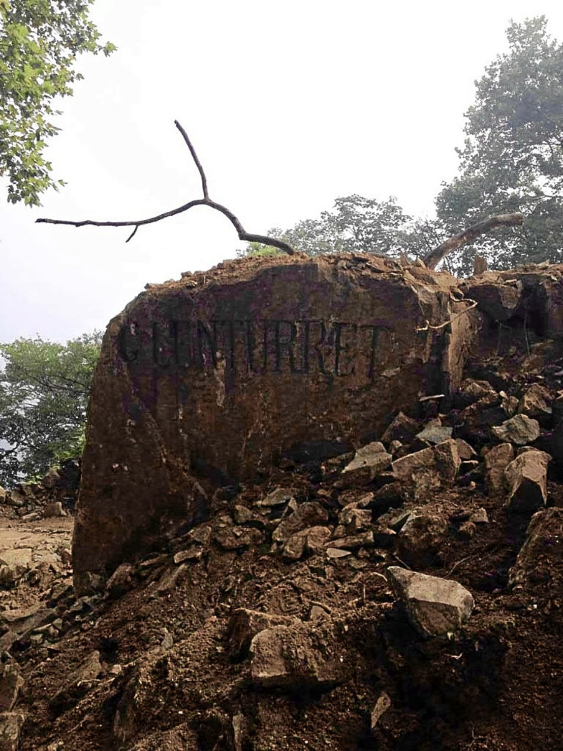 Theories on how the name came to be carved on the rock have come in from around the world