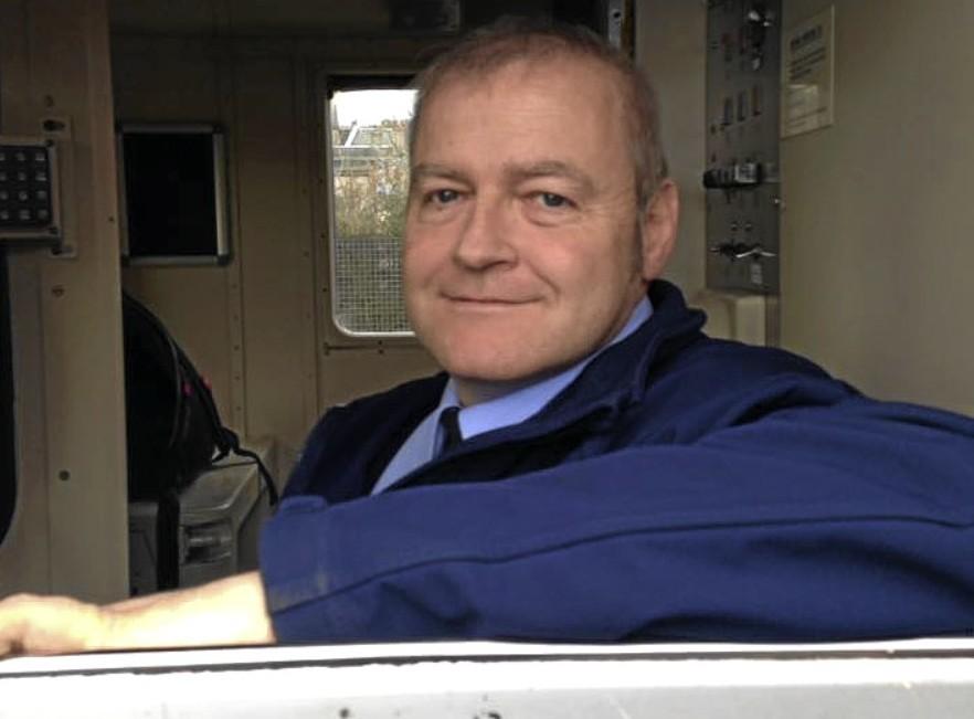 Train driver Martin McManus.