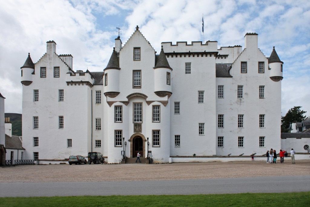 The main facade of Blair castle, Blair Atholl.