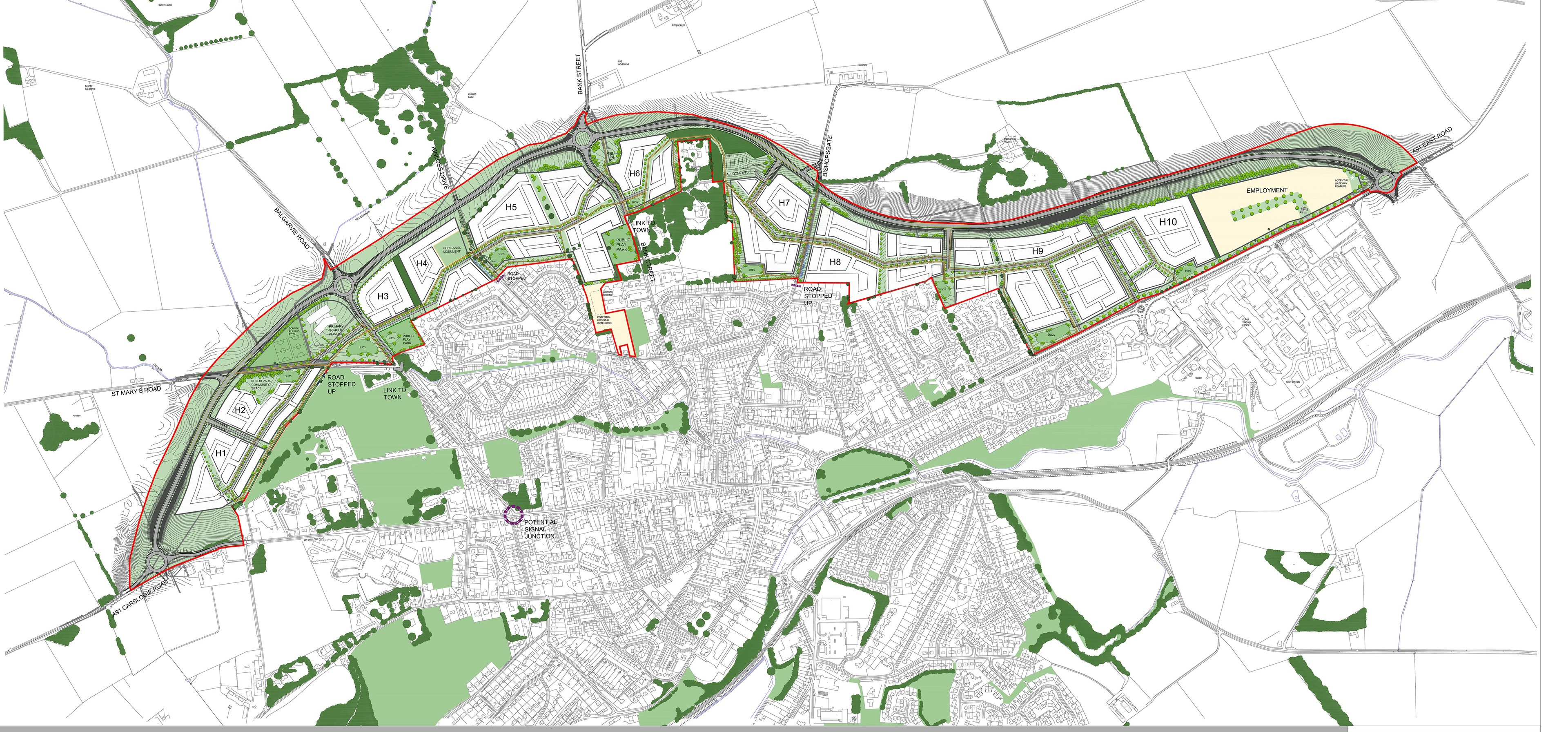 Plans for Cupar North.