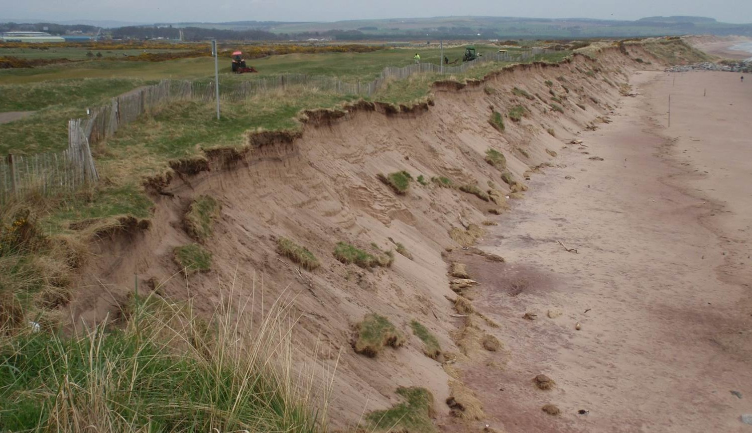 The erosion at Montrose threatens the golf course's long-term future.