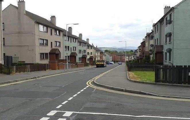 Fraser Avenue, Inverkeithing, where regeneration work is progressing
