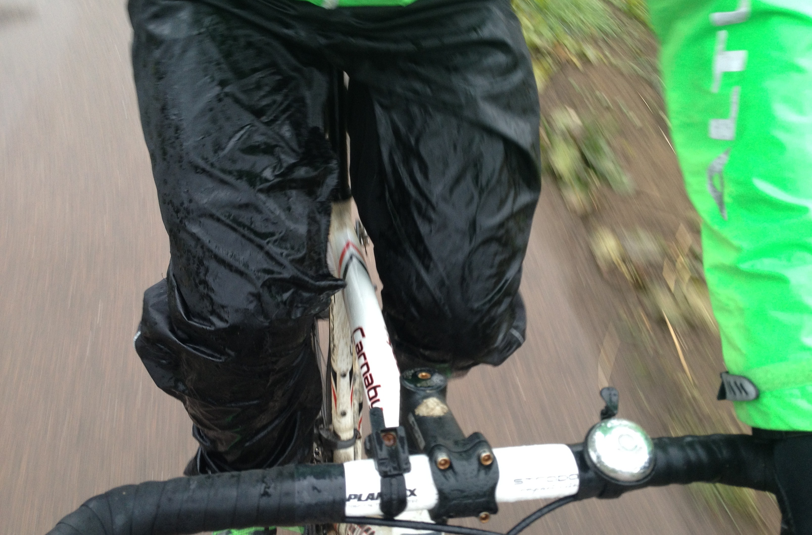 Cycling in the rain is fun - for a short while.