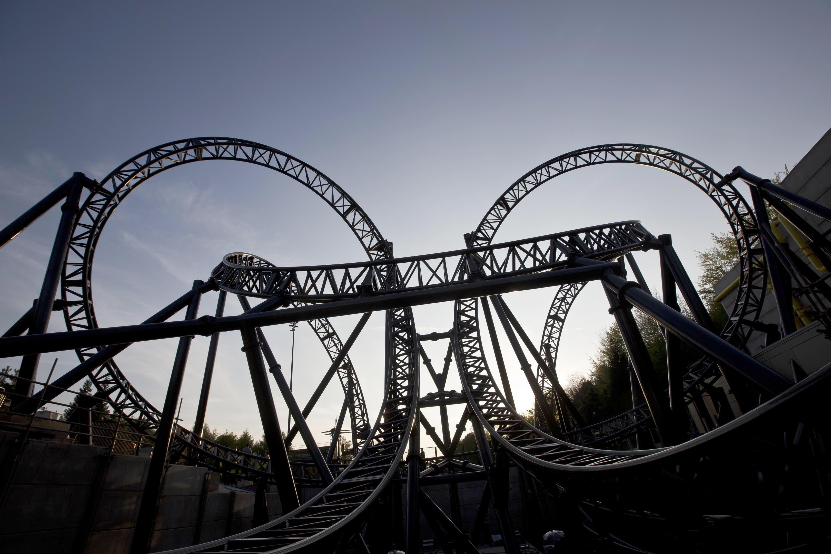 The Smiler ride at Alton Towers.