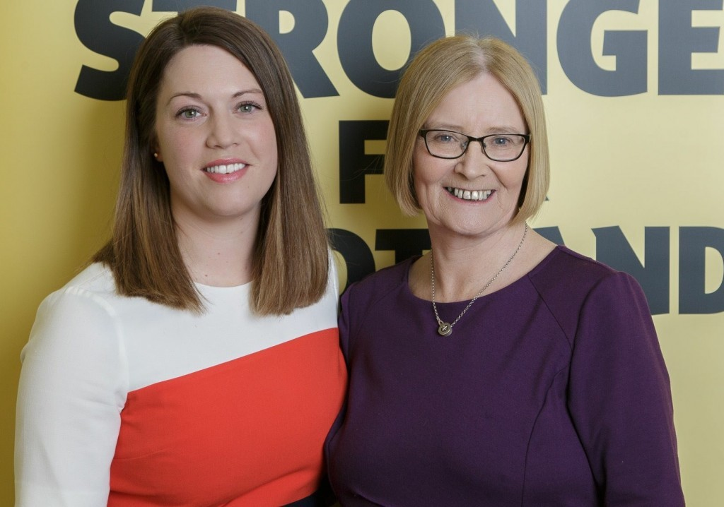 Jenny Gilruth with Tricia Marwick who is stepping down from Holyrood after 17 years