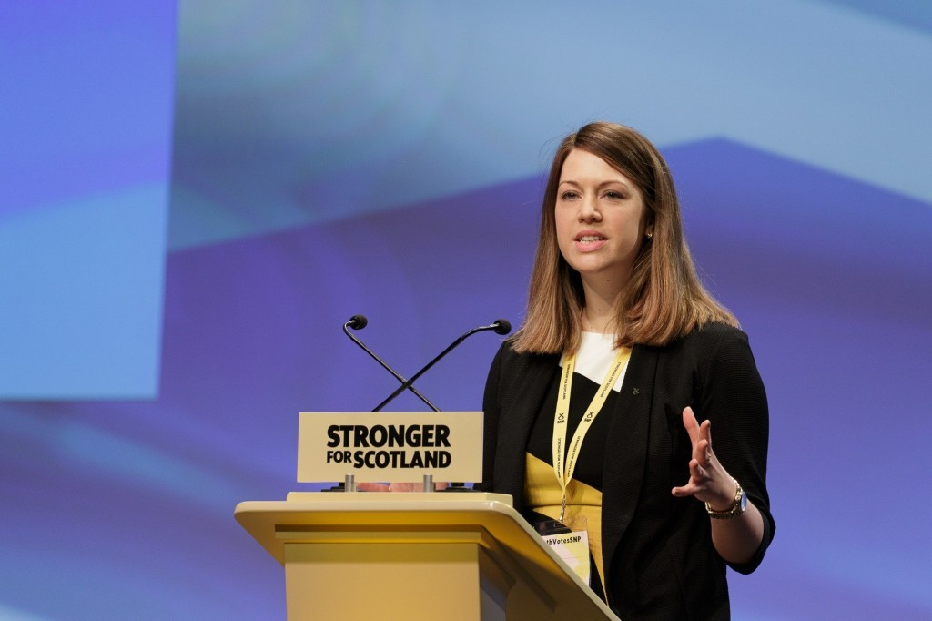 Jenny Gilruth speaking at the SNP conference